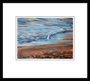 Gull At Sunset Small